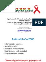 Experiencias de Defensa de Los Derechos Humanos de Las Personas Con VIH en Bolivia