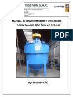 INVESTIGACION DE MANTENIMIENTO Y OPERACIÓN DE CELDA DE FLOTACION CFF-240.