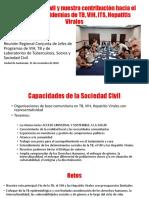 Contribución de la sociedad civil para poner fin a la tuberculosis, el VIH y las hepatitis virales