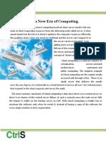 Cloud Ushers a New Era of Computing