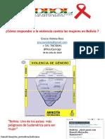Como Responder a La Violencia Contra Las Mujeres en Bolivia