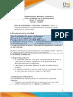 Guia de actividades y Rúbrica de evaluación - Unidad 2 - Fase 3 - Marketing en línea, e-commerce y sus tendencias