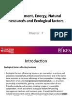 Chapter 6 Environment energy
