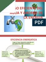 USO EFICIENTE DEL H2O Y AHORRO DE LA ENERGIA