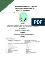 SILABO DE MODELO MATEMATICOS  UNIVERSIDAD DEL CALLAO 2020A