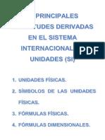 MAGNITUDES DERIVADAS EN EL SI