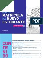 Guía de Matrícula Del Nuevo Estudiante Admisión 2021 - Nov 2020