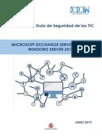 CCN-STIC-576 Microsoft Exchange Server 2016 en Windows Server 2016