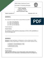NPTEL CC Assignment 4
