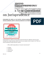 Previous Year Questions on Jurisprudence - My Legal Friend