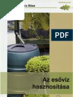 Karl-Heinz Böse- Az esővíz hasznosítása