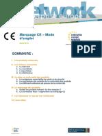 Marquage CE Mode d emploi SOMMAIRE _ I. Les produits concernés