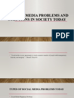 20 Social Media Problems and Solutions in Society- KEN TLE
