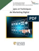 Stratégies et Techniques de Marketing Digital - Partie I