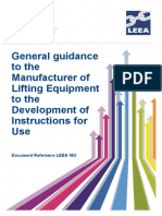 LEEA-062 General guidance to the Manufacturer of Lifting Equipment to the Development of Instructions for Use Version 1 April 2015.pdf