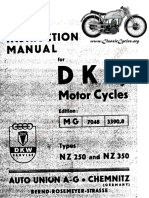 DKW NZ 250 350 Owners Maintenance Instruction Manual