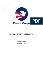 Volunteer Handbook Global Peace Corps Policy 2020 December