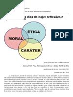 A Ética para os dias de hoje_ reflexões e apontamentos __ Sabedoria Política