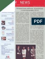 Perspectivas políticas, económicas e internacionales 2010