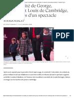 La Complicité de George, Charlotte Et Louis de Cambridge, En Coulisses d'Un Spectacle Londonien - Madame Figaro