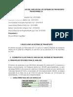 LOS ELEMENTOS GENERALES DEL ANÁLISIS DE LOS SISTEMAS DE TRANSPORTE