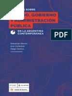 Estudios Sobre Estado Gobierno y Administracion pública en La Argentina contemporanea Clacso Sebastian Barros