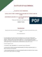 Tre Trattati Di Alchimia.doc
