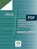Cartilha Diferenças das atribuiçoes dos Conselhos Profissionais e Sindicatos