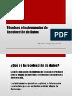 Semana 7 Técnicas e Instrumentos de Recolección de Datos