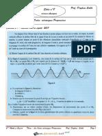 Série d'exercices Avec correction - Sciences physiques - Les ondes mecaniques progressives - Bac Sciences exp (2018-2019) Mr Daghsni Sahbi (1)