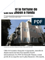 Comment la fortune de Carlos Ghosn a fondu - Libération