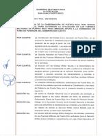Orden ejecutiva que activa a la Guardia Nacional para la toma de posesión de Pierluisi
