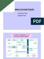 Cours ABSORPTION - PHARMACOCINETIQUE ET TOXICOLOGIE DES POLLUANTS