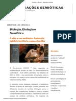 Semiótica e ciências I. - Mediações semióticas