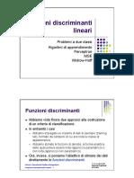 4 - Funzioni discriminanti lineari