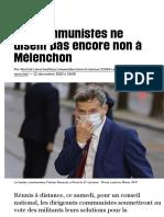 Les communistes ne disent pas encore non à Mélenchon - Libération