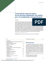 Tratamiento laparoscópico de las hernias inguinales del adulto por vía totalmente extraperitoneal