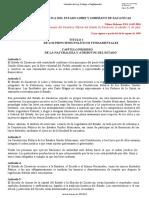 CONSTITUCIÓN POLÍTICA DEL ESTADO LIBRE Y SOBERANO DE ZACATECAS (última reforma 14 septiembre  2016)