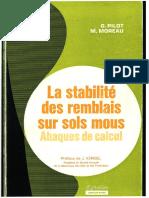 1973 - La Stabilité Des Remblais Sur Sols Mous - Pilot & Moreau