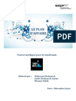 Modele du plan d'affaire Chariot Intelligent