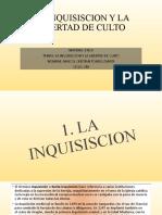 LA INQUISISCION Y LA LIBERTAD DE CULTO