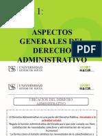 TEMA 1. ASPECTOS GENERALES DEL DERECHO ADMINISTRATIVO