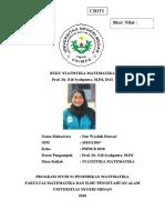 CBR STATISTIKA MATEMATIKA_PSPM B 2018_NUR WASILAH HAWARI_4183111067