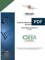 Guide de rédaction de mémoires de fin détudes CIESA-Canada 2e Édition Novembre 2018.doc.docx