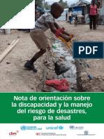 discapacidad y manejo del riesgo de desastres