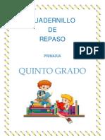 5° CUADERNILLO DE REPASO