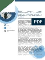 ANALISIS PENAL CONSTITUCIONAL DE LAS REFORMAS LEGISLATIVAS
