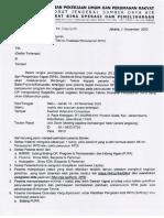 Undangan Bimbingan Teknis Finalisasi Penyusunan RP2I