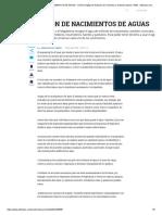 CONSERVACIÓN DE NACIMIENTOS DE AGUAS