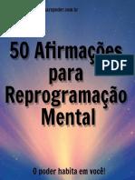 50 Afirmações Para Reprogramação Mental